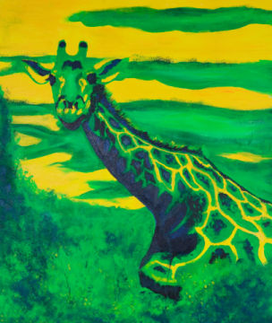 Giraffe of artist Sabine May, Tiere, Afrika