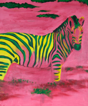 Zebra of artist Sabine May, Tiere, Afrika