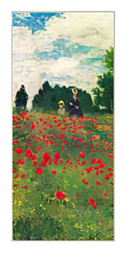 Les Coquelicots of artist Claude Monet as framed image