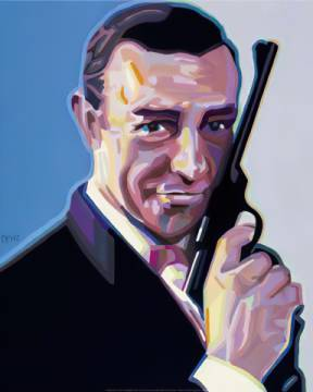 Bond of artist Werner Opitz, 007, Pop, Bond, Opitz, James, Werner, Portrait