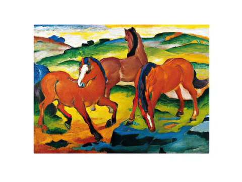 Red Horse of artist Franz Marc, Horses