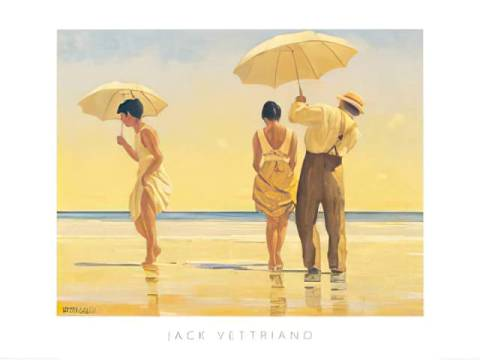 Mad Dogs of artist Jack Vettriano as framed image