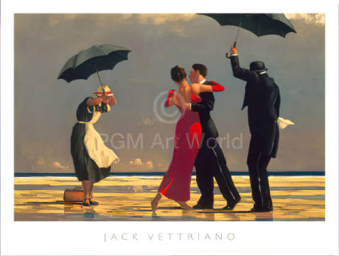 The Singing Butler of artist Jack Vettriano as framed image