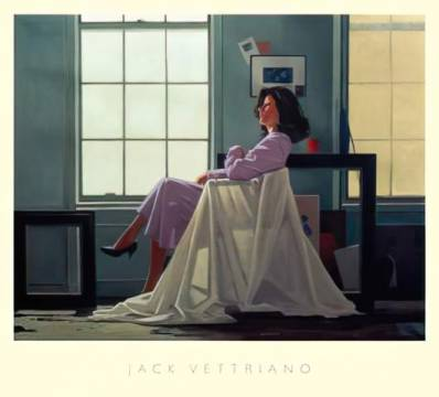 Winter Light and Lavender of artist Jack Vettriano as framed image
