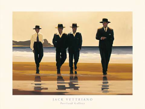 The Billy Boys of artist Jack Vettriano as framed image