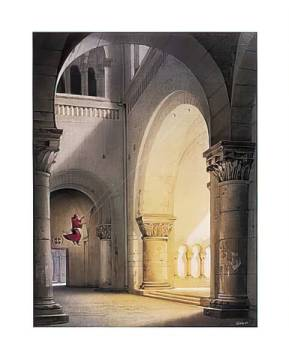 Halleluja of artist Hans-Werner Sahm, Monk, Swing, Column, Church