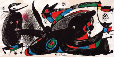 Escultor Great  Britain steinsigniert of artist Joan Miró as framed image
