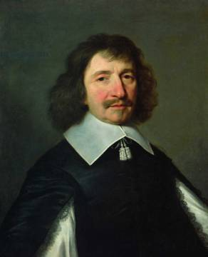 Portrait of Vincent Voiture (1597-1648) c.1643-44 of artist Philippe de Champaigne as framed image
