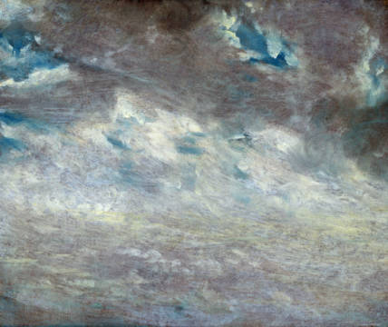 Cloud Study, 1821 of artist John Constable, Oil, Sky, John, Board, Paper, Cloudy, English, Constable