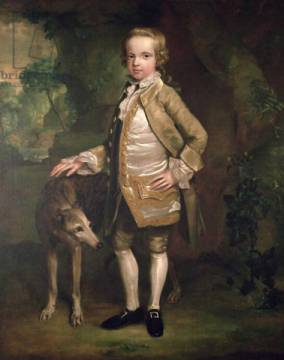 Sir John Nelthorpe, 6th Baronet as a Boy of artist George Townley Stubbs as framed image