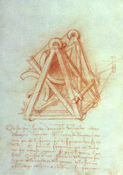 Codex Madrid II/154-V Design of artist Leonardo da Vinci, High, Mirror, Genius, Sketch, Writing, Drawing, Machine, Notebook