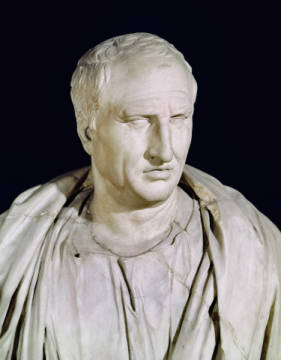 Bust of Marcus Tullius Cicero (106-43 BC)  (detail of 168173) of artist Römisch, Male, Stone, Buste, Roman, Social, Marble, Orator, Ciceron