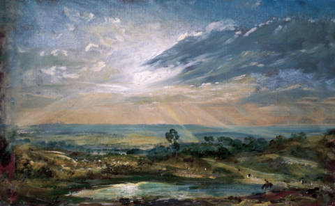 Branch Hill Pond, Hampstead of artist John Constable as framed image