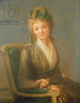 Portrait presumed to be Lucile Desmoulins (1771-94) 1794 of artist Louis-Léopold Boilly as framed image