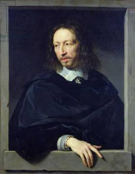 Portrait of a Gentleman, known as Arnaud d'Andilly (1588-1674) 1650 of artist Philippe de Champaigne, Oil, Men, Poet, 17th, Male, Canvas, French, Century