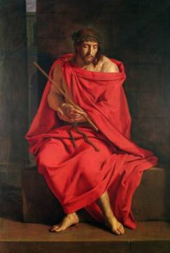 Jesus mocked of artist Philippe de Champaigne as framed image
