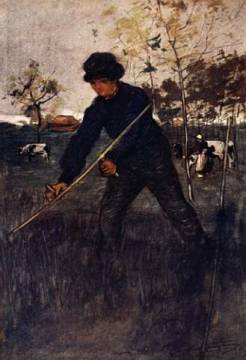 The Mower, 1904 of artist Nico Jungman as framed image