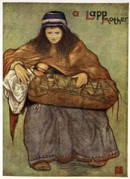 A Lapp mother and child, 1905 of artist Nico Jungman as framed image