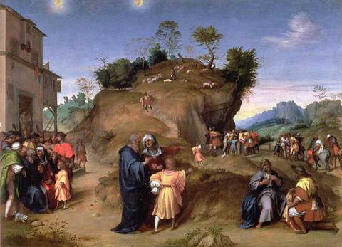 The Story of Joseph of artist Andrea d'Agnolo Sarto, Old, Pit, Into, Sold, Thrown, Slavery, Mourning, Testament