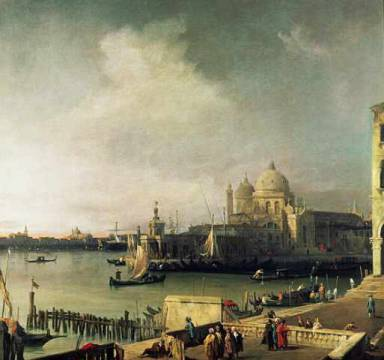 View of Venice of artist Giovanni Antonio Canaletto as framed image