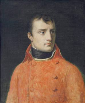 Napoléon Bonaparte, First Consul of artist Anne-Louis Girodet de Roucy-Trioson, Oil, Male, Half, Wars, Frown, Young, First, Leader
