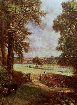 The Cornfield, detail of the harvester, 1826 of artist John Constable as framed image