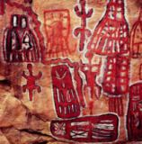 Unbekannt - Prehistoric rock painting, from the Songhai/Dogon region of Mali