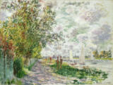 Claude Monet - The Riverbank at Gennevilliers, c.1875