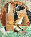 Juan Gris - The Bottle of Banyuls, 1914