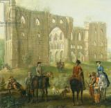 John Wootton - Riders Pausing by the Ruins of Rievaulx Abbey, c.1740-50
