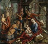 Pieter Aertsen - The Adoration of the Magi, central panel, c.1560