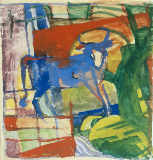 Franz Marc - Blue Cow, 1914