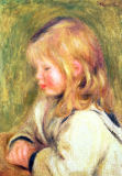Pierre Auguste Renoir - The Child in a White Shirt Reading, 1905