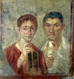 Unbekannt - Portrait of a Couple, thought to be Paquio Proculo and his wife, from the House of Paquio Proculo, Pompeii, 1st century AD