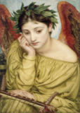 Sir Edward John Poynter - Erato, Muse of Poetry, 1870