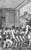 French School - An Orgy, illustration from 'Histoire de Juliette' by the Marquis de Sade, 1797