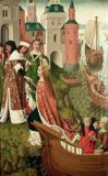 Master of the Legend of St. Ursula - St. Ursula bidding Farewell to her Parents, before 1482
