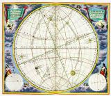 Andreas Cellarius - Map Charting the Movement of the Earth and Planets, from 'The Celestial Atlas, or The Harmony of the Universe'  pub. by Joannes
