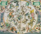 Andreas Cellarius - Celestial Planisphere Showing the Signs of the Zodiac, from 'The Celestial Atlas, or The Harmony of the Universe'  pub. by Joann