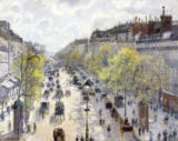 Camille Pissarro - Boulevard Montmartre, Morning, Grey Day, 1897