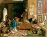 John Frederick Lewis - Interior of a School, Cairo