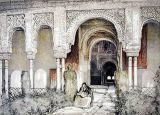 John Frederick Lewis - Entrance to the Hall of the Two Sisters , from 'Sketches and Drawings of the Alhambra', 1835