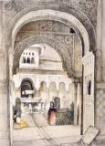John Frederick Lewis - The Fountain of the Lions, from the Hall of the Abencerrajes, from 'Sketches and Drawings of the Alhambra', engraved by William