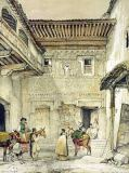 John Frederick Lewis - Court of the Mosque , from 'Sketches and Drawings of the Alhambra', 1835
