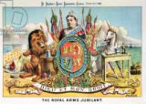 Tom Merry - The Royal Arms Jubilant, from 'St. Stephen's Review Presentation Cartoon', 25 June 1887