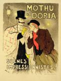 Theophile Alexandre Steinlen - Reproduction of a poster advertising 'Mothu and Doria'in impressionist scenes, 1893