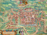 Joris Hoefnagel - Map of Weimar, from 'Civitates Orbis Terrarum' by Georg Braun (1541-1622) and Frans Hogenberg (1535-90) c.1572-1617