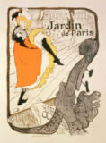 Henri de Toulouse-Lautrec - Reproduction of a poster advertising 'Jane Avril' at the Jardin de Paris, 1893