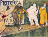 Henri-Gabriel Ibels - Reproduction of a poster advertising 'Pierrefort Artistic Posters', Rue Bonaparte, 1897