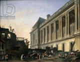 Pierre-Antoine Demachy - The Clearing of the Louvre colonnade, 1764